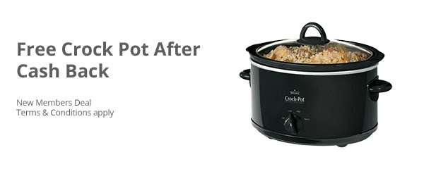 *HOT* FREE 4-qt.  Crock Pot From Walmart After Cash Back + $10 Sign-Up BONUS (Moneymaker!!!)